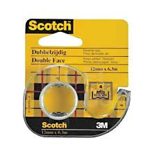 Scotch 136D 12mm./6.3m. - double sided adhesive tape